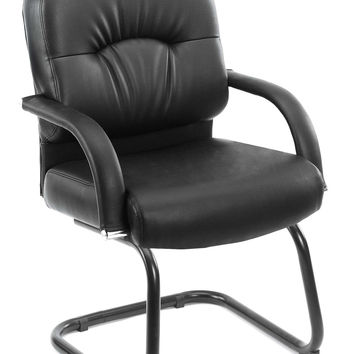 Boss Caressoft Cantilever Sled Base Guest Chair