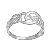 Sterling Silver Celtic Ring (Grey)
