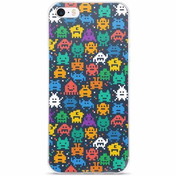 Pixel Monsters iPhone 5/5s/Se, 6/6s, 6/6s Plus Case