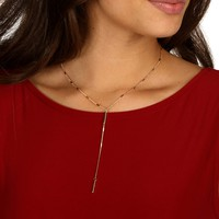 Gold Dainty Bar Lariat Necklace