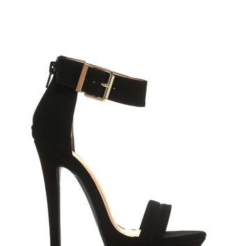 Stay High Faux Nubuck Platform Heels