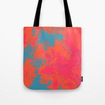 Pixelated Tote Bag by duckyb