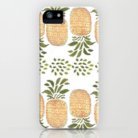 Pineapples iPhone & iPod Case by Bouffants And Broken Hearts
