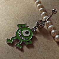Mike Wazowski Belly Ring Navel Ring Body Jewelry