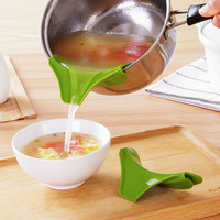 Silicone funnel pots and pans round rim deflector Anti-spill drain Spout Slip On Mess kitchen utensils cooking splatter screen