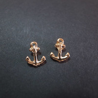 earring / anchor shape ear ring  / unique ear ring / metal anchor shape  / alloy