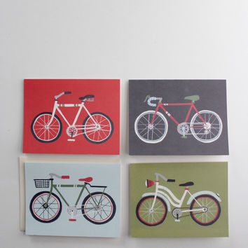 Vintage Bicycle Greeting Cards, Boxed Set of 8
