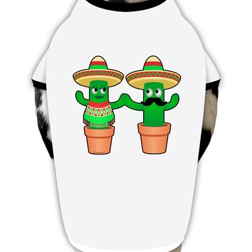 Fiesta Cactus Couple Dog Shirt by TooLoud