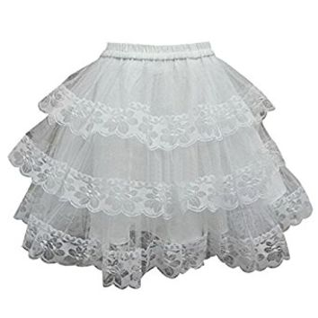 Partiss Women's Angel Lace Lolita Skirt