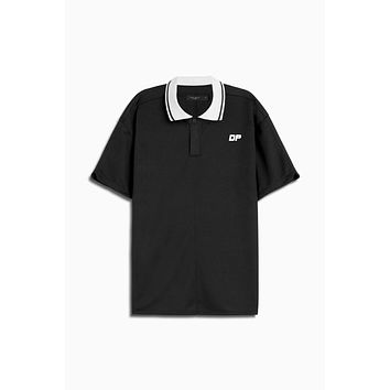 dp rugby polo / black + ivory