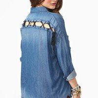 Denim Dream Shirt  in  Clothes Tops at Nasty Gal