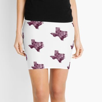 'Texas' Mini Skirt by MonnPrint