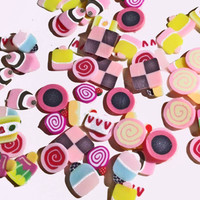 Fimo Nail Deco - Kawaii cupcakes and sweeties
