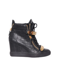Giuseppe Zanotti Leather High-top sneakers with coconut print