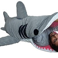 Chumbuddy 3 Adult Great White Edition Shark Designer Plush Sleeping Bag