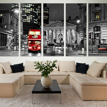 Black and White London Wall Art Gift / London Fine Art Photography Photo on Canvas Wall Décor Gift for Home / Interior Design Wall Art Decor