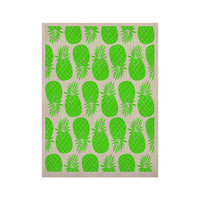 """Anchobee """"Pinya Neon Green"""" Lime Pattern KESS Naturals Canvas (Frame not Included)"""