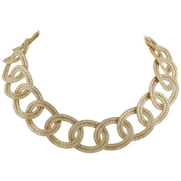 Cartier Diamond Link Necklace