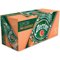 Perrier Pink Grapefruit Sparkling Natural Mineral Water, 8.45 fl oz, 10 pack - Walmart.com
