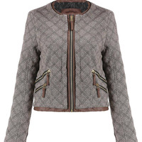 Quilted Jacket in Khaki