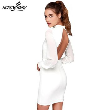 Backless Slim  Dress Elegance Fashion Summer Dress Dresses Women Vintage Black White Dress