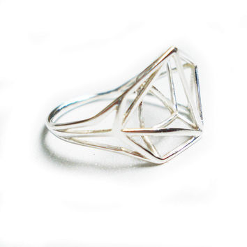 Architectural Structure Geometric Sterling Silver by osnatharnoy