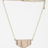 Mixed Metal Fringe Necklace - Urban Outfitters