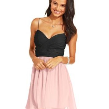 Hailey Logan by Adrianna Papell Juniors' Colorblock A-Line Dress | macys.com