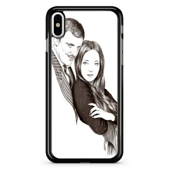 Morticia And Gomez Addams Family iPhone X Case