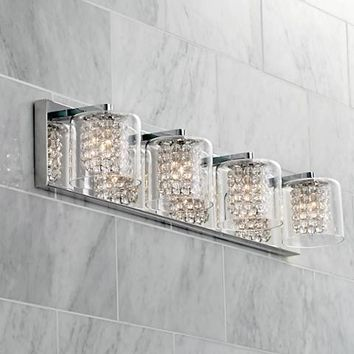 "Possini Euro Coco 4-Light 28 1/2""W Clear Crystal Bath Light - #1H661 