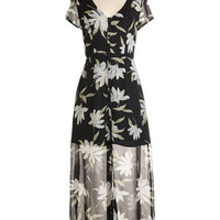 ModCloth 90s Long Short Sleeves Maxi Courtyard Chic Dress