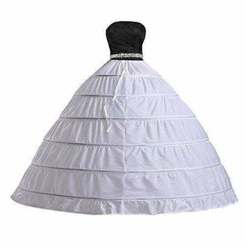 Edith qi Women 3/4/6 Hoops Petticoats Mermaid Crinoline Half Slips Underskirt For Bridal Gown
