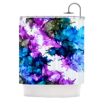 "Claire Day ""Utopia"" Blue Pink Shower Curtain"