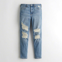 Girls Vintage Stretch High-Rise Crop Super Skinny Jeans | Girls Clearance | HollisterCo.com