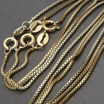 Gold Layered Men and Women Box Basic Necklace, by Folks Jewelry