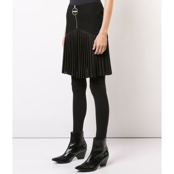 Givenchy Zipper Front Skirt - Black Wool Skirt