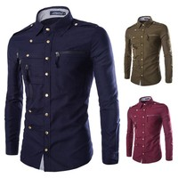 Slim Long Sleeve Men Shirt [10831835075]