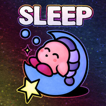 Kirby Sleep Art Print by Likelikes