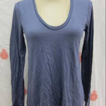 Splendid L/S V-Neck Top / Blue- Size XS