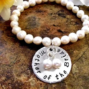 Mother of the Bride Pearl Bracelet, MOB Wedding Bracelet, Bridal Bracelet, Mother of the Bride Jewelry