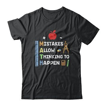 Mistakes Allow Thinking To Happen Math Teacher Gift