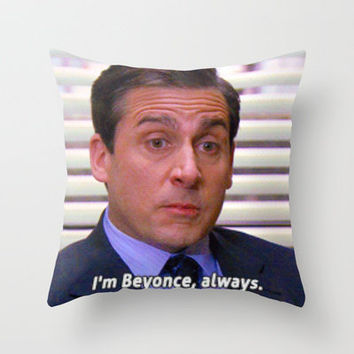 Beyonce can you handle this Throw Pillow by Cornhusk