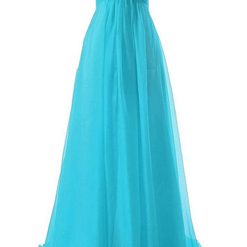 2016 Hot Sale Cheap Bridesmaid Dresses Green Blue Purple Champagne Red Color with Beadings Chiffon Wedding Party Gowns