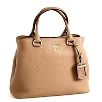 Prada Women's 1BA058 Brown Leather Shoulder Bag