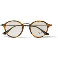 Ray-Ban - Mottled-Acetate Round-Frame Sunglasses | MR PORTER