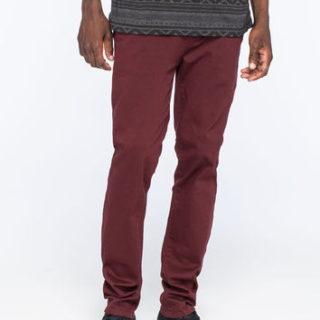 Rsq London Mens Skinny Chino Pants Burgundy  In Sizes