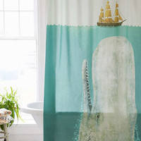 Terry Fan The Whale Shower Curtain | Urban Outfitters