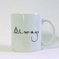 Always White Ceramic Mug - Inspired by Harry Potter and the Deathly Hallows