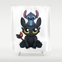 Can I Sit Here Shower Curtain by Katie Simpson