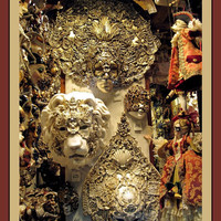 Photograph Masks  CARNIVAL GOLDEN ORNATE by LovesParisStudio